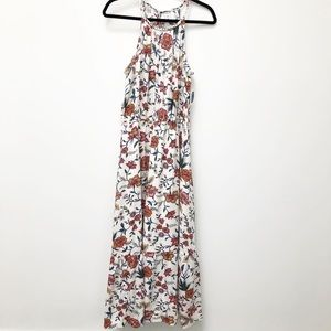 Old Navy white floral maxi dress